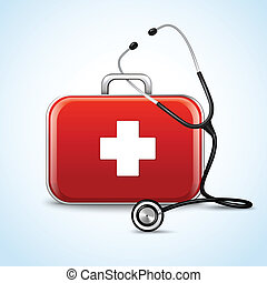 First aid healthcare concept