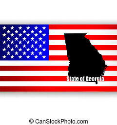 Map of the U.S. state of Georgia