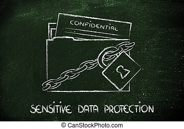 privacy and confidential information portection - concept...