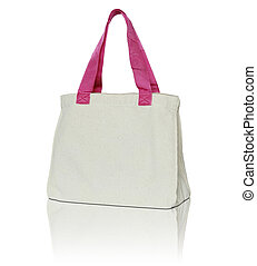 fabric bag on white background