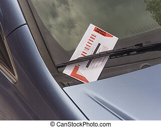 Parking ticket - parking ticket violation on motor car...