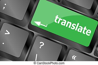 Translate button on keyboard keys