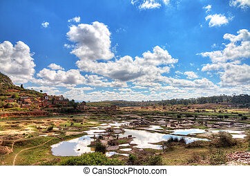 Madagascar landscape - Beautiful view of on of the many...