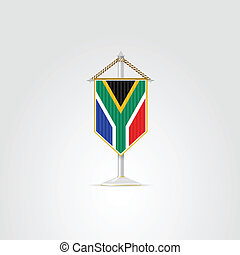 Illustration of national symbols of African countries. Republic of South Africa.