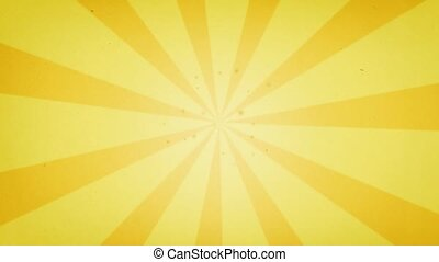 yellow and orange sun rays - rotating of yellow and orange...