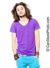 casual man - Portrait of a trendy young man in casual...