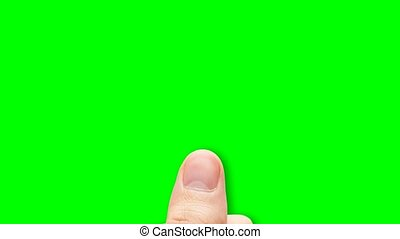 finger touch screen system - Finger touch the green screen...