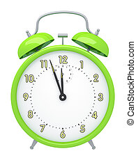 green alarm clock - An image of a green alarm clock isolated...