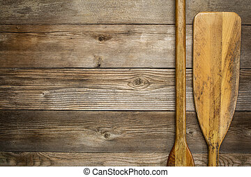 wooden canoe paddle abstract