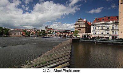 Novotny footbridge in Prague - View of Novotny footbridge in...
