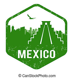 Mexico stamp - Mexico grunge rubber stamp on white, vector...