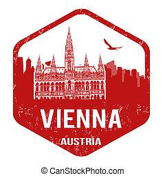 Vienna stamp - Vienna grunge rubber stamp on white, vector...