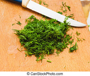 finely cut green dill