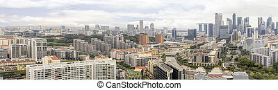 Condominiums Along Singapore River Cityscape - Condominiums...