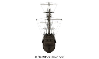 sailing boat - turning sailing boat