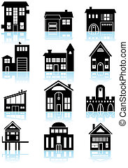 Various Structures Black - Set of a wide range of generic...