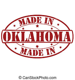 Made in Oklahoma - Stamp with text made in Oklahoma inside,...