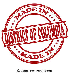Made in District of Columbia - Stamp with text made in...