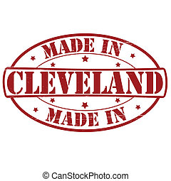 Made in Cleveland - Stamp with text made in Cleveland...