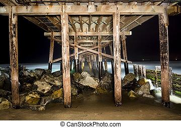Light painted pier