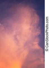Orange Sky with sunset