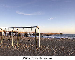 Childrens Outdoor Swings at Ventura Beach - Kids Beach...