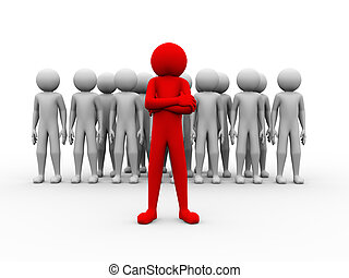 3d successful red man team leader