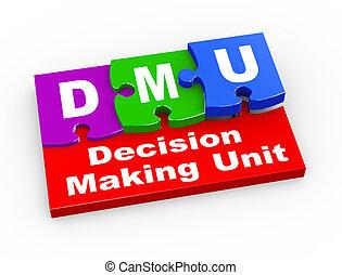 3d dmu puzzle pieces illustration - 3d rendering of puzzle...