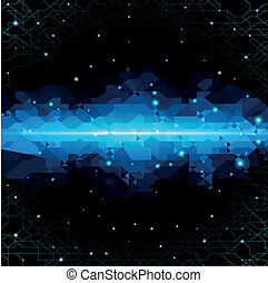 Abstract background with technology cloud