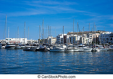 Eivissa ibiza town port sea view boats 2014 holiday