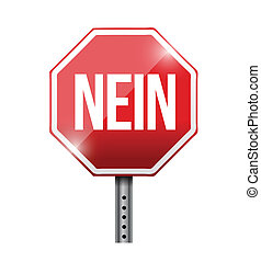 no in german street sign, illustration design