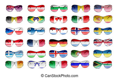 female sunglasses - elegant sunglasses with country flags