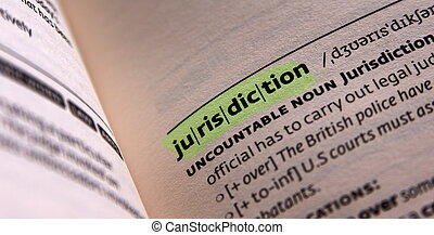 jurisdiction word in open book