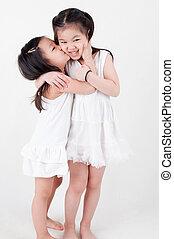 Asian siblings
