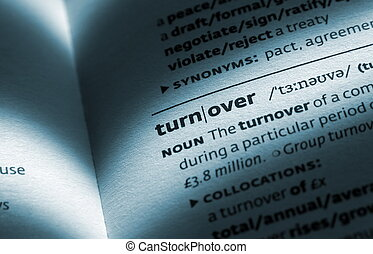 turnover word in open book