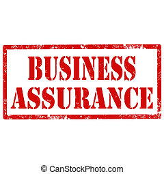 Business Assurance-stamp - Grunge rubber stamp with text...