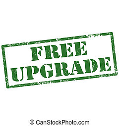 Free Upgrade-stamp - Grunge rubber stamp with text Free...