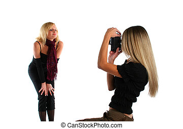 Photoshoot - Beautiful felame photographer taking picture of...