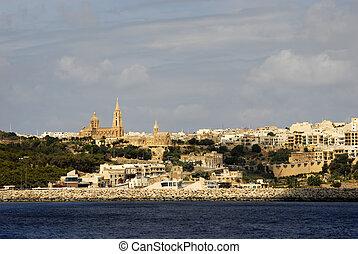 malta - ancient architecture of gozo island in malta