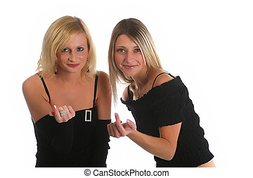 Come and join us - Two nice girls inviting you to join them