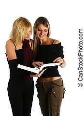 Students - Young girls studying