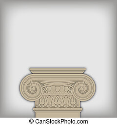 vector postament from ionic capital