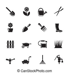 Garden and gardening icons