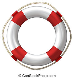 lifebelt lifebuoy - lifebelt, lifebuoy isolated on white...