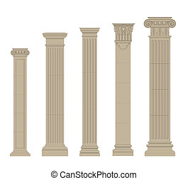 set of column 2 - set of greece column and pilasters eps10...