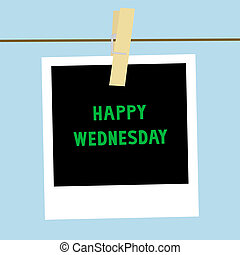 Happy Wednesday note2 - Happy Wednesday letters on the card.