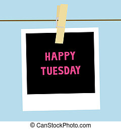 Happy Tuesday note2 - Happy Tuesday letters on the card.