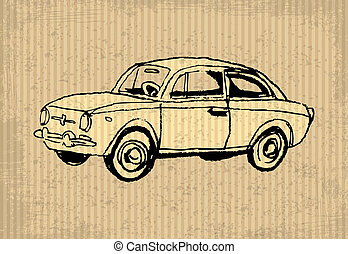 Oldtimer - Old-timer - illustration on a cartboard