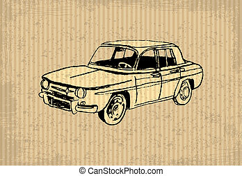 Oldtimer - Old-timer - Renault 8 Gordini 1964, illustration...
