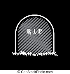 Gravestone, rest in peace - illustration